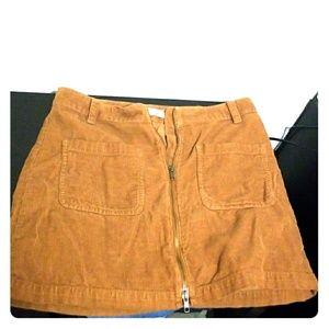 Madewell Front-zip Miniskirt